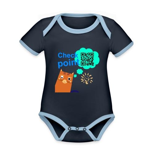 Duna Checkpoint - Økologisk kortermet kontrast-babybody