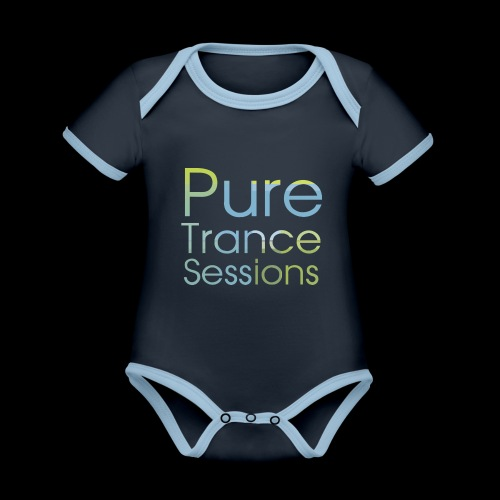 pts text hd - Organic Baby Contrasting Bodysuit