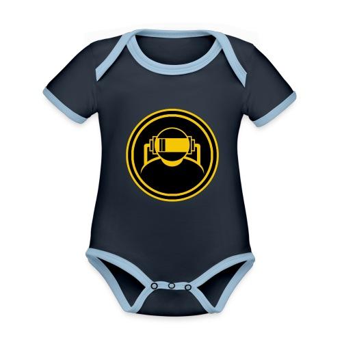 Mens Slim Fit T Shirt. - Organic Baby Contrasting Bodysuit