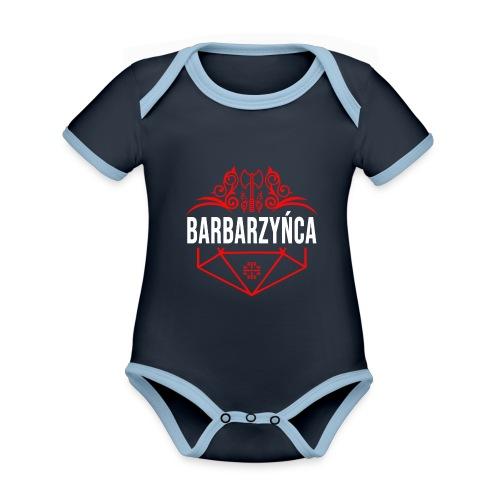 Klasa: barbarzyńca - Ekologiczne body niemowlęce z krótkim rękawem i kontrastowymi lamówkami