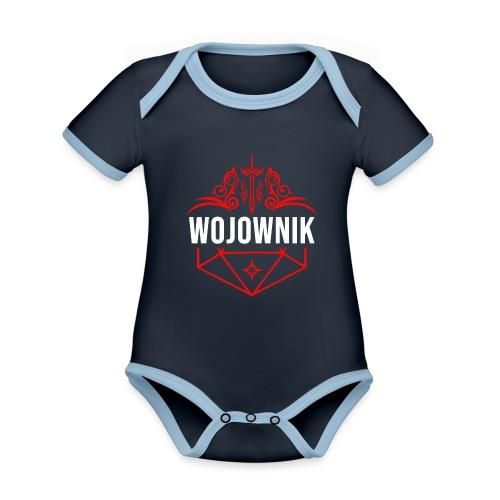 Klasa: wojownik - Ekologiczne body niemowlęce z krótkim rękawem i kontrastowymi lamówkami