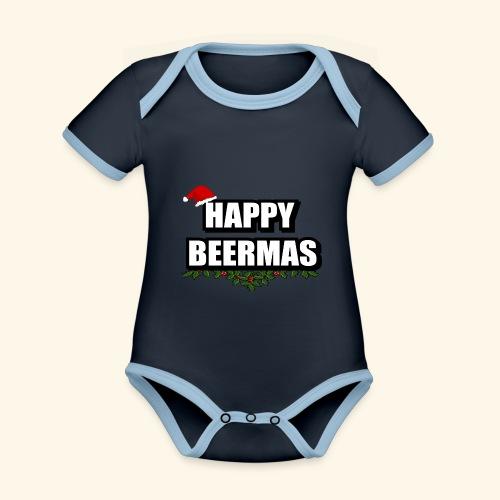 HAPPY BEERMAS AYHT - Organic Baby Contrasting Bodysuit