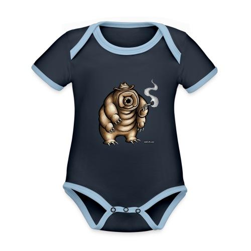 Smokey the Water Bear - Organic Baby Contrasting Bodysuit