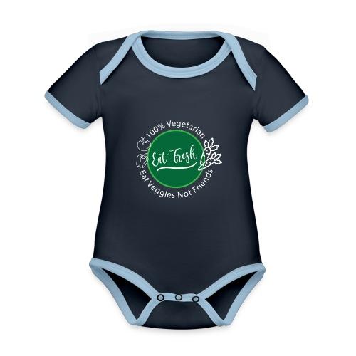 Gezond eten vegetarische t-shirt - Baby contrasterend bio-rompertje met korte mouwen