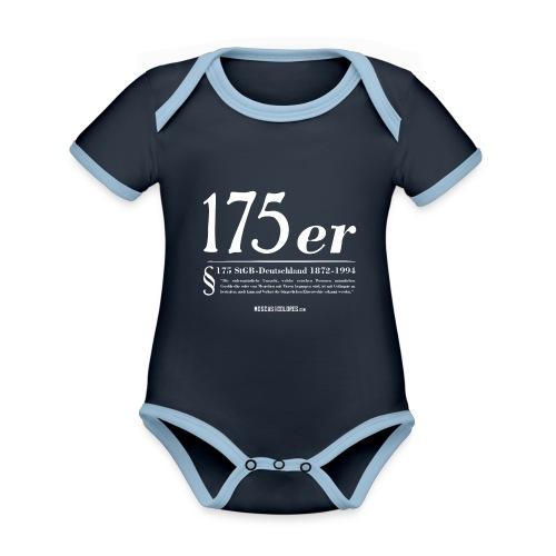 175 er. Protest. White. - Body contraste para bebé de tejido orgánico