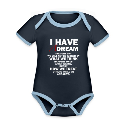 I HAVE A DREAM - Organic Baby Contrasting Bodysuit