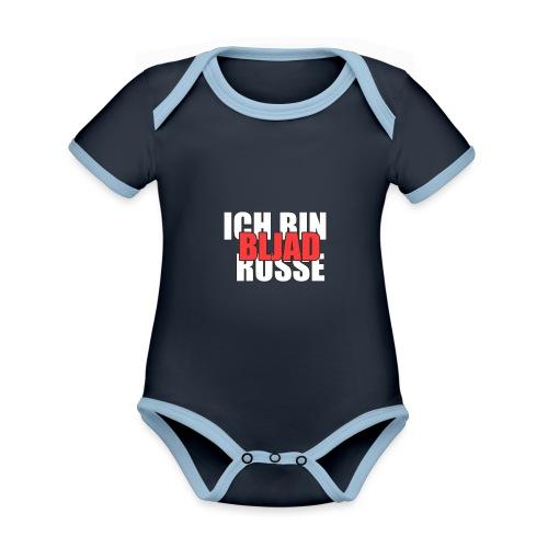 ICH BIN RUSSE, BLJAD - Baby Bio-Kurzarm-Kontrastbody
