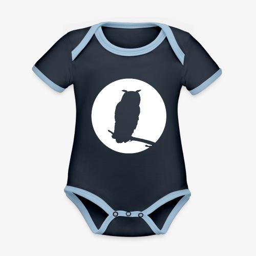 Uggla - Ekologisk kontrastfärgad kortärmad babybody
