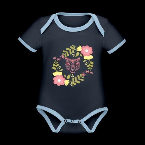 Tee-shirt TIGRE - Body Bébé bio contrasté manches courtes