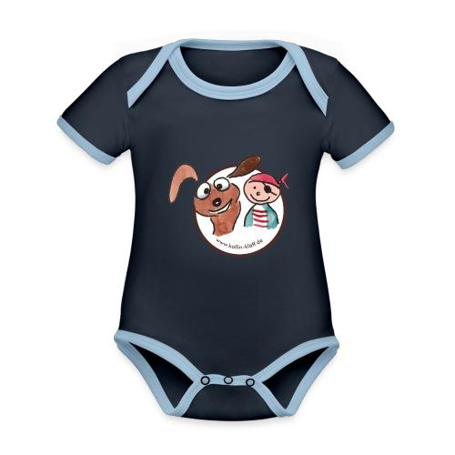 Kollin Kläff - Hund und Pirat für T-Shirt und co - Baby Bio-Kurzarm-Kontrastbody