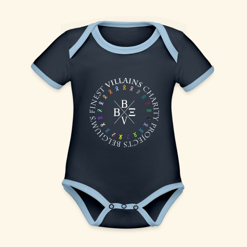 BVBE Charity Projects x factor white Charlemagne T - Organic Baby Contrasting Bodysuit