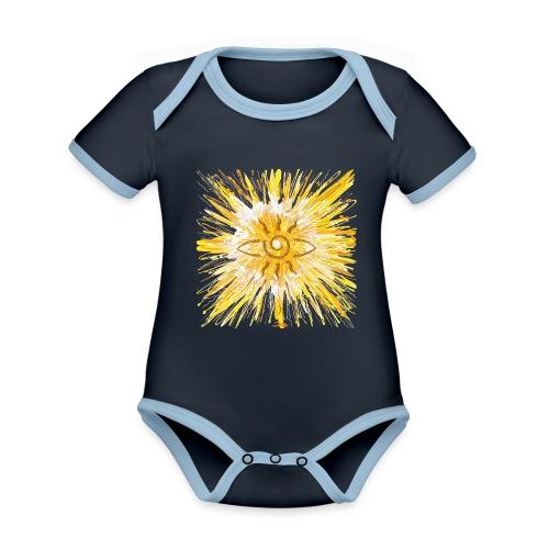 Sternentor der LichtKraft - Baby Bio-Kurzarm-Kontrastbody