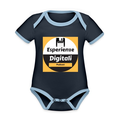 Logo Esperienze Digitali - Body da neonato a manica corta, ecologico e in contrasto cromatico