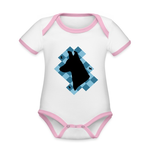 SquareDog - Vauvan kontrastivärinen, lyhythihainen luomu-body