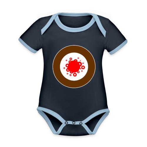 BUBBLE - Baby Bio-Kurzarm-Kontrastbody