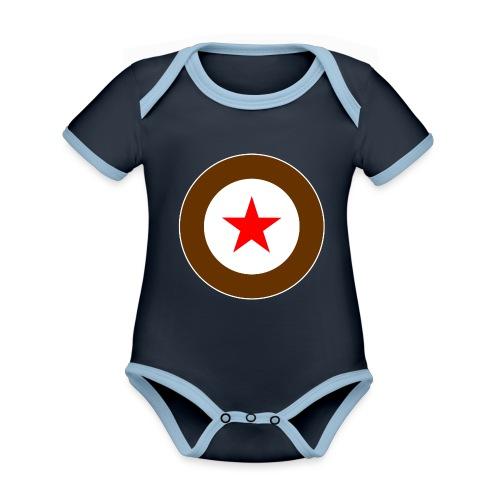 STAR - Baby Bio-Kurzarm-Kontrastbody
