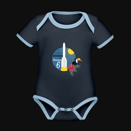 Ariane 6 By Itartwork - Organic Baby Contrasting Bodysuit