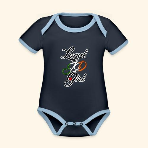 Loyal JD girl - Organic Baby Contrasting Bodysuit