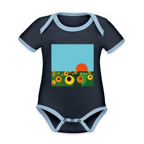 Sunflower - Organic Baby Contrasting Bodysuit