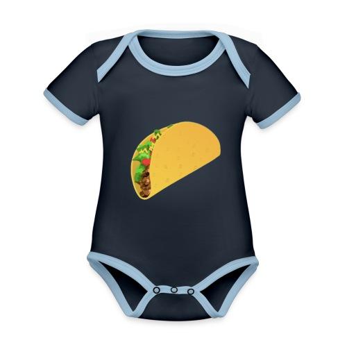 taco - Ekologisk kontrastfärgad kortärmad babybody