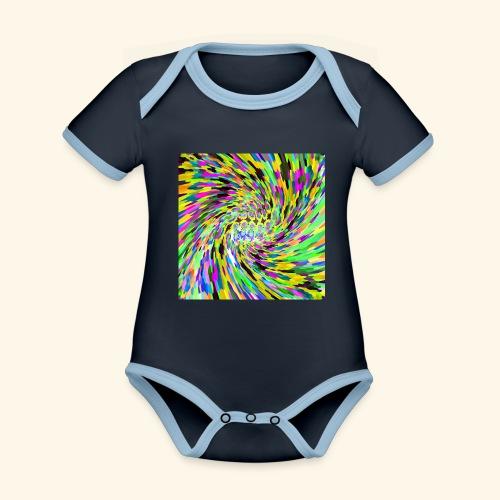 Vortice psichedelico - Body da neonato a manica corta, ecologico e in contrasto cromatico