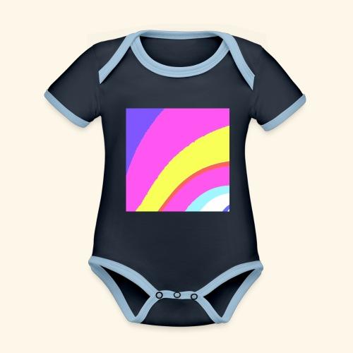Curva colorata - Body da neonato a manica corta, ecologico e in contrasto cromatico