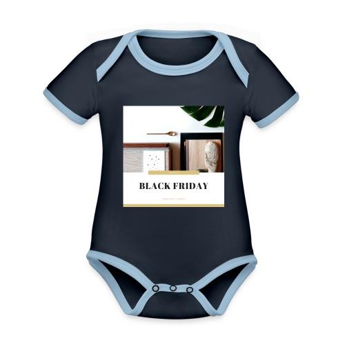 Black Friday - Body contraste para bebé de tejido orgánico