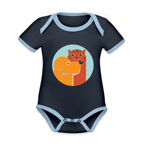 Tierfreund - Baby Bio-Kurzarm-Kontrastbody