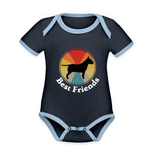 Best Friends - Ich liebe Hunde | Bull Terrier - Baby Bio-Kurzarm-Kontrastbody