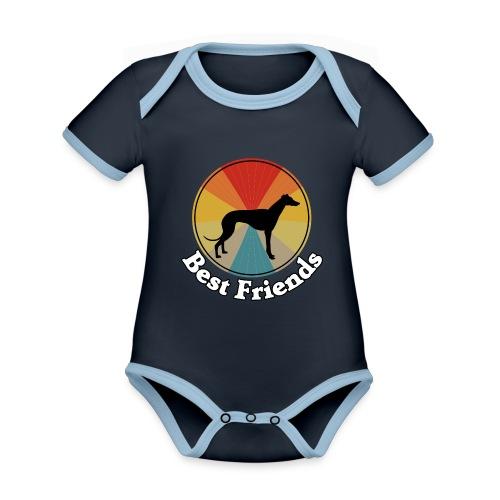 Best Friends - Ich liebe Hunde | Windhunde - Baby Bio-Kurzarm-Kontrastbody