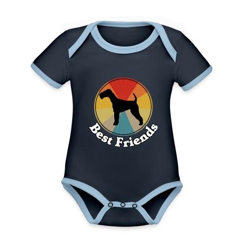 Best Friends - Ich liebe Hunde | Terrier - Baby Bio-Kurzarm-Kontrastbody
