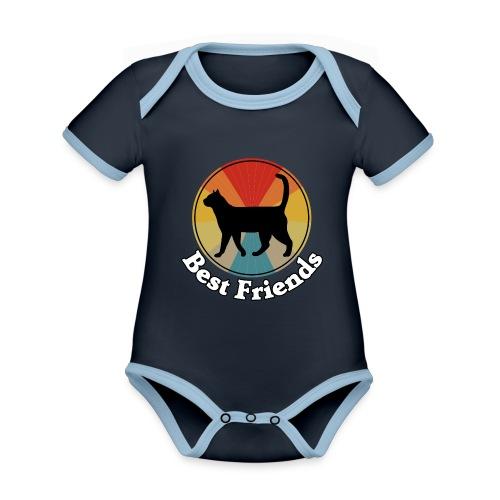 Best Friends - Ich liebe Katzen - Baby Bio-Kurzarm-Kontrastbody