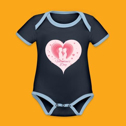 Valentinstag - Baby Bio-Kurzarm-Kontrastbody