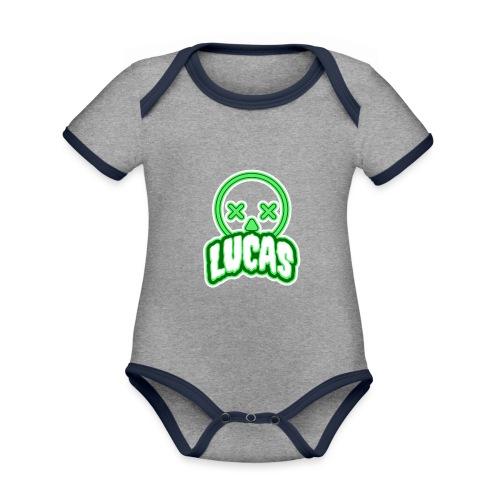 Lucas (Horror) - Baby contrasterend bio-rompertje met korte mouwen