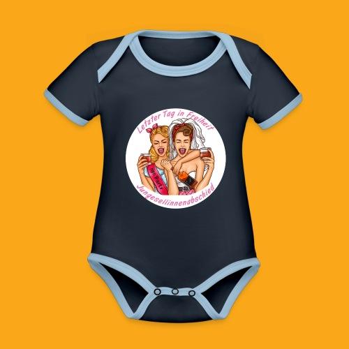 Jungesellinnenabschied - Baby Bio-Kurzarm-Kontrastbody