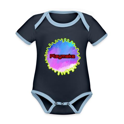 PLAYMAKE - Økologisk kortermet kontrast-babybody