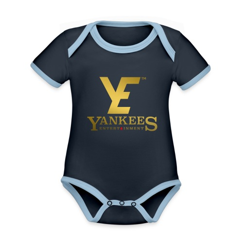 YE Logo Gold - Organic Baby Contrasting Bodysuit
