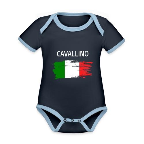 Cavallino Fanprodukte - Baby Bio-Kurzarm-Kontrastbody