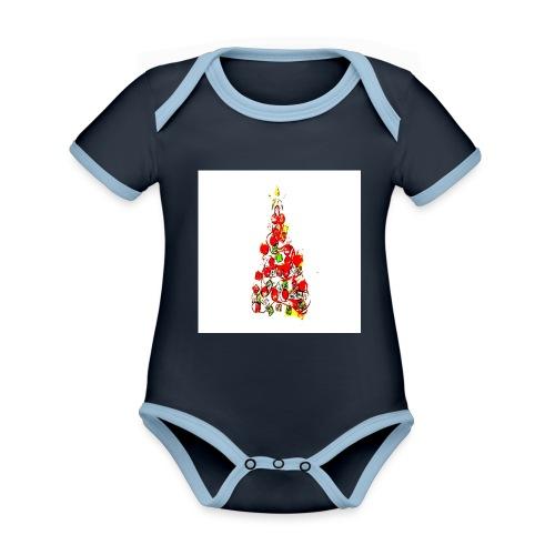 Shoppiful - Body da neonato a manica corta, ecologico e in contrasto cromatico