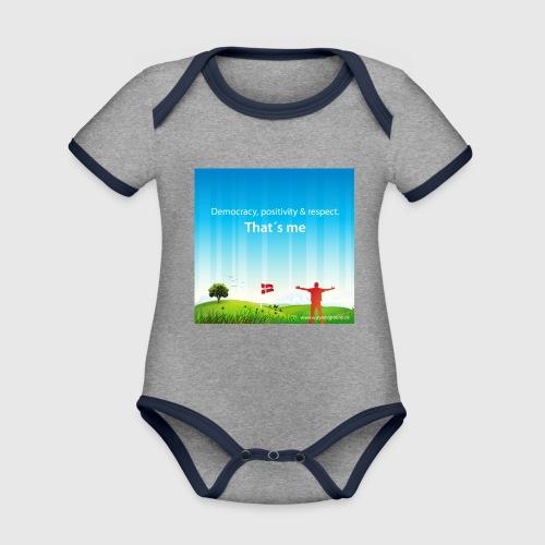 Rolling hills tshirt - Kortærmet økologisk babybody i kontrastfarver