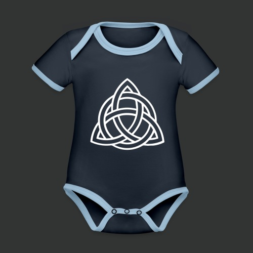 Celtic Knot — Celtic Circle - Organic Baby Contrasting Bodysuit