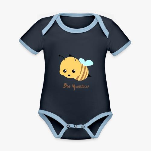 Bee Yourself - Kortærmet økologisk babybody i kontrastfarver