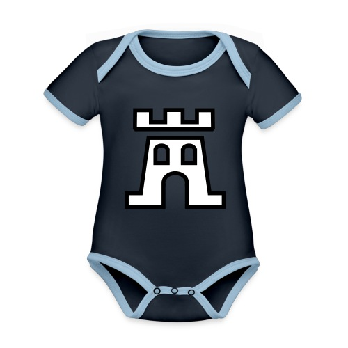 Piktogramm Wehrturm - Baby Bio-Kurzarm-Kontrastbody