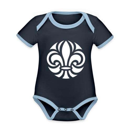Scouterna-symbol_white - Ekologisk kontrastfärgad kortärmad babybody
