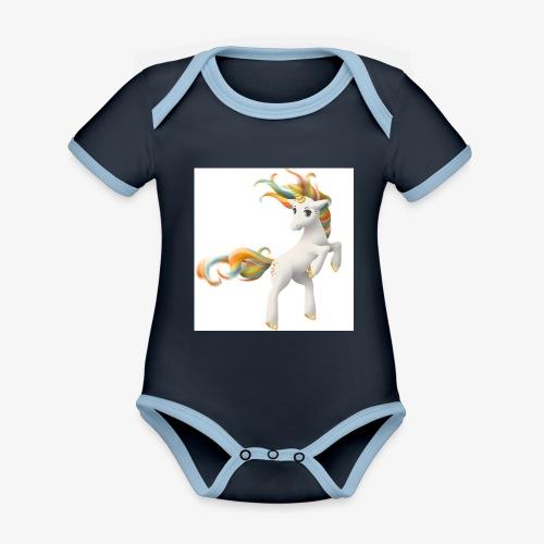 Love Unicorn - Baby Bio-Kurzarm-Kontrastbody
