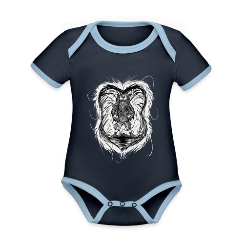 Horned Metalhead - Organic Baby Contrasting Bodysuit