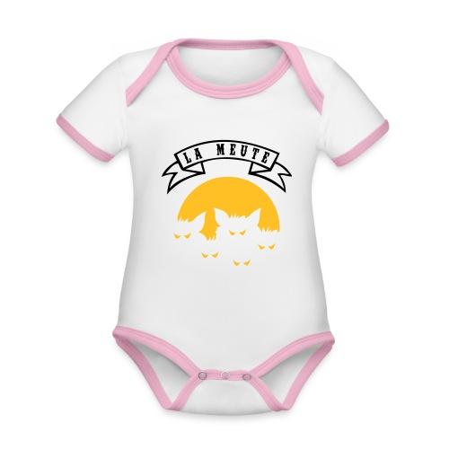 la meute - Body Bébé bio contrasté manches courtes
