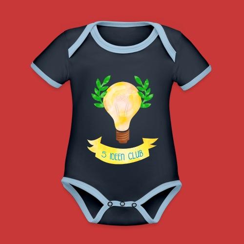 5 IDEEN CLUB Glühbirne 2018 - Baby Bio-Kurzarm-Kontrastbody