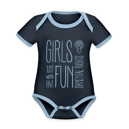 Girls just wanna have fundamental rights - Baby Bio-Kurzarm-Kontrastbody