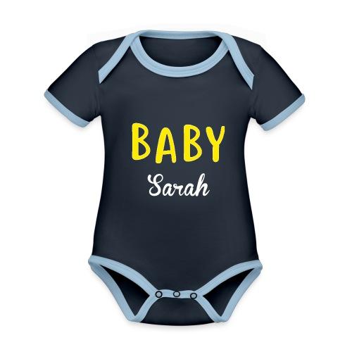 baby sarah black design - Organic Baby Contrasting Bodysuit